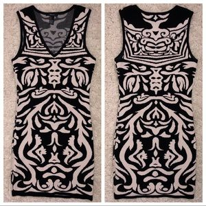 Forever 21 Knit Abstract Bodycon Mini Dress Small